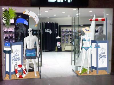 """дизайн проект витрины сети магазинов """"DIM"""", тема: """"Французская Ривьера"""""""