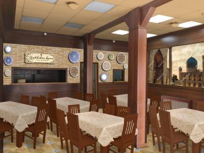дизайн проект Узбекского кафе Москва